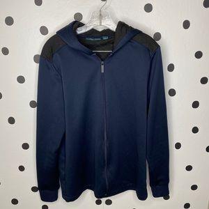 🔥30%OFF🔥EUC Perry Ellis zip up blue jacket  M
